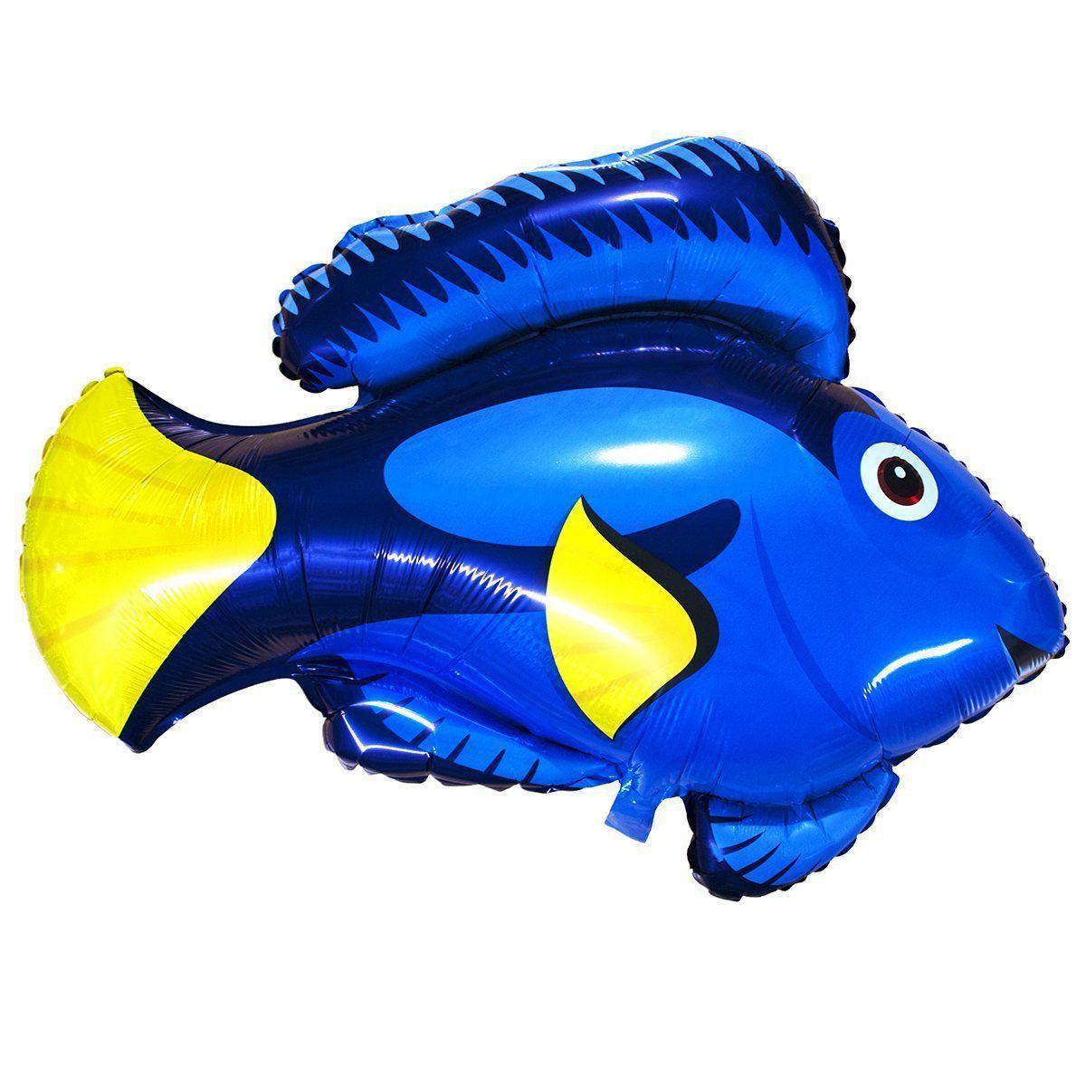 """Фольгированный шар Б/Ф """"Рыбка синяя"""""""
