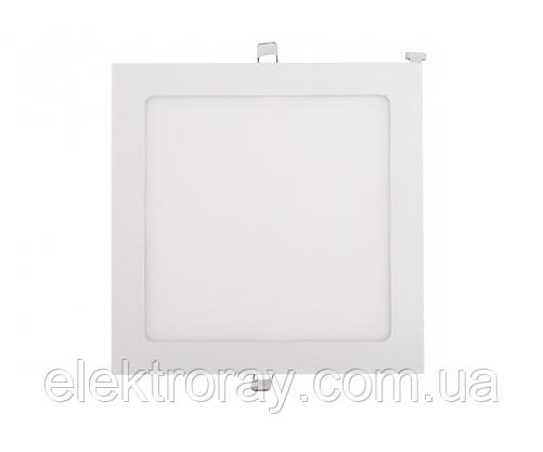 Светодиодный светильник Luxel 24W 4000k встраиваемый квадратный белый