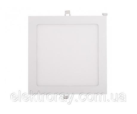Светодиодный светильник Luxel 24W 4000k встраиваемый квадратный белый, фото 2