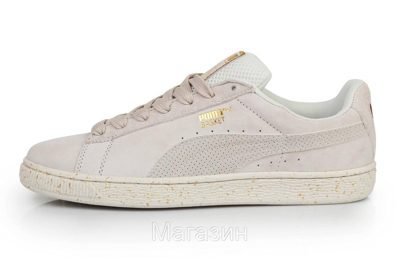 Мужские кроссовки Puma Suede x CAREAUX 361475-03 (Пума) в стиле бежевые 499dea34037