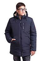 Зимняя куртка парка для мальчика подростка от производителя 38-46 синий
