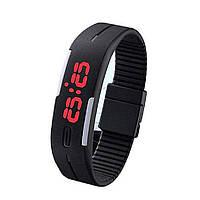 Спортивные светодиодные силиконовые часы , LED часы
