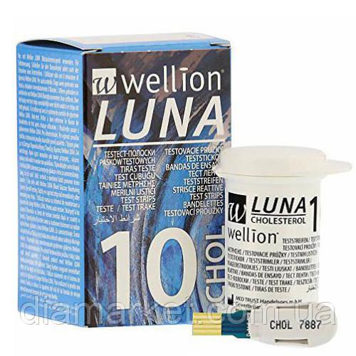 Тест-полоски Wellion LUNA Duo CHOL (Веллион Луна Дуо холестерин ) 10шт.Срок: 08.2019г