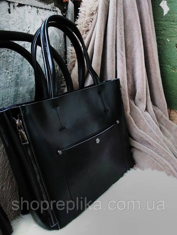 Кожаная сумка в черном  , кожаные сумки Украина