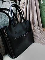 Кожаная сумка в черном  , кожаные сумки Украина , фото 1