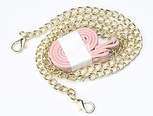 Стильный женский кошелек BAELLERRY Ladies кожаный клатч с ремешком-цепочкой Розовый, фото 3