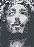 Схема для вышивки бисером Иисус из Назарета