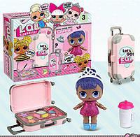 Набор LOL сюрприз 2в1 блестящая куколка с чемоданом и косметикой, фото 1