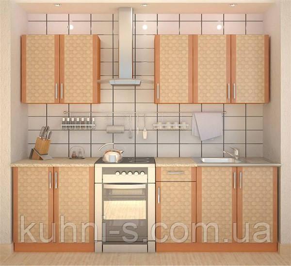 Недорогая корпусная мебель кухни Софт Ротан