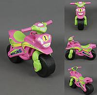 Мотоцикл-толокар Спорт. Розовый. Код 0138