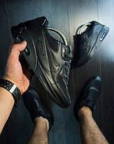 Кроссовки мужские Nike Air Max 90 черные топ реплика, фото 2