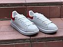 Кроссовки кеды белые женские Александр Макквин (Alexander Mcqueen) размер 36, 37, 38, 39, 40  реплика, фото 4