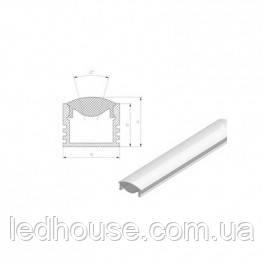 Рассеиватель прозрачный линза ЛРК для светодиодного профиля ЛП