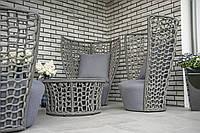 Комплект для отдыха ,КРЕСЛО LILLE, высокое , алюминий + декоративный шнур