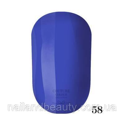 Гель-лак Couture Colour 9 мл №058 Цвет: ярко-синий