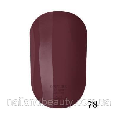 Гель-лак Couture Colour 9 мл №078 Цвет: красное дерево