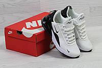 Кроссовки женские Nike Air  Max 270 стильные осенние спортивные на шнурках (белые с черным), ТОП-реплика, фото 1