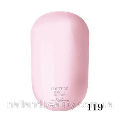 Гель-лак Couture Colour 9 мл №119 Цвет: светлый молочно-розовый