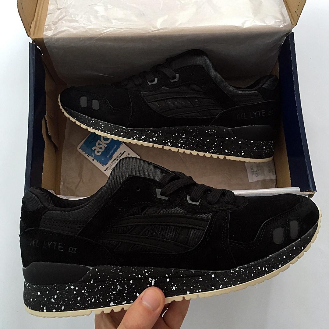 16656b933cb Мужские кроссовки Asics Gel Lyte 3 Асикс черные реплика -