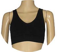 NEW! Женское спортивное белье из микрофибры - бюстгальтеры - топы серии А-бра 863 Black !