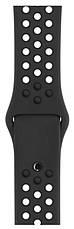 Ремінець для Apple iWatch 38mm Nike brand з перфорацією Чорний, фото 3