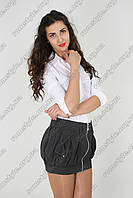 Мини-юбка молодежная черная с карманами (Міні - спідниця з кишенями)