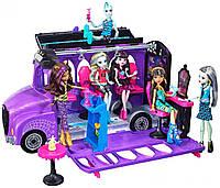 Монстер Хай школьный автобус Monster High FCV63 Deluxe Bus Mobile Salon, фото 1