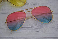 Солнцезащитные очки авиаторы капли унисекс Цветные, фото 1