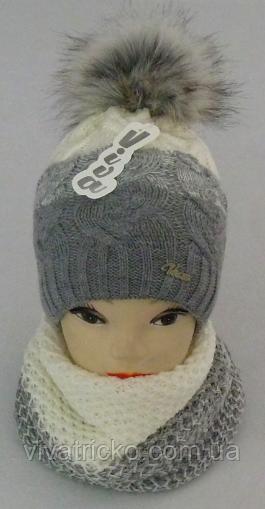 Комплект шапка и шарф м 6142, разные цвета