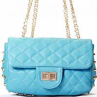 Женская сумка  в стиле Chanel голубого цвета