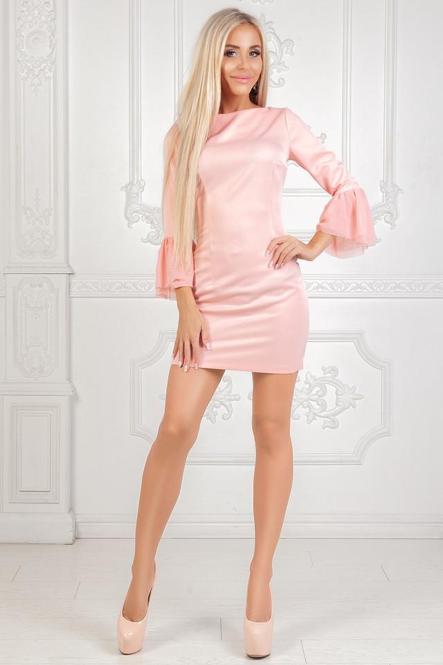 c4853fb138f6d7d Классное платье со съемной верхней сеткой. Ткань: Мадонна, отделка на  манжетах из стрейч-сетки, съемная верхняя юбка из сетки с бусинами.