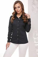 Рубашка Джен темно-синий ромбик (42-50)