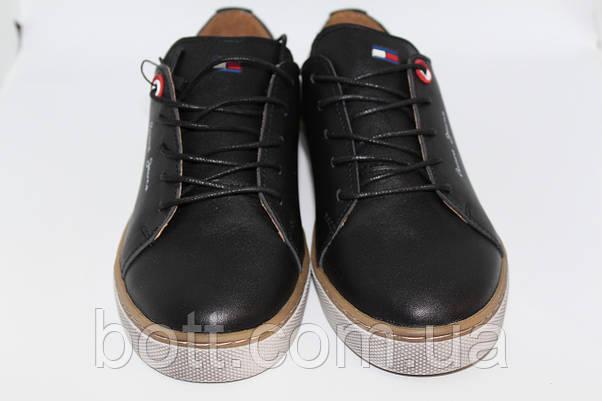 Кеды кожаные черные унисекс, фото 3