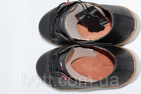 Кеды кожаные черные унисекс, фото 2