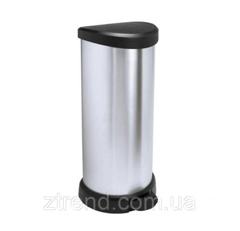 Контейнер для мусора металлизированный Curver Deco 40 л.