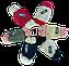 Комплект шапка детская +шарф м 7045, акрил, флис, фото 3
