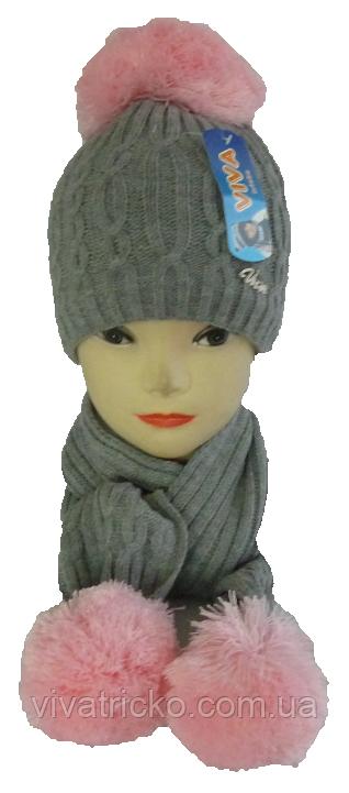 Комплект шапка детская +шарф м 7045, акрил, флис