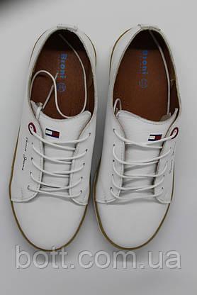 Кеды кожаные белые унисекс , фото 3