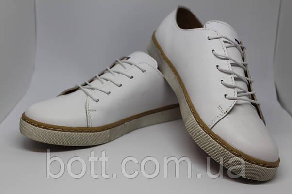 Кеды кожаные белые унисекс , фото 2
