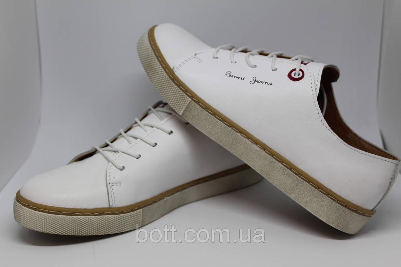 Кеды кожаные белые унисекс