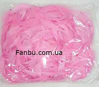 Декоративные нежно розовые перья в пакете(1уп 120-130перьев), фото 1