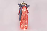 Декоративная фигурка Ангел 69см c LED-гирляндой внутри, цвет - красный