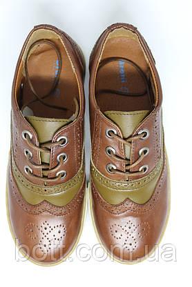 Кеды кожаные коричневые, фото 3