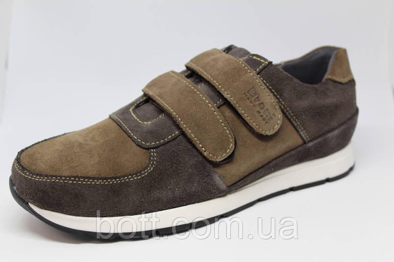 Кроссовки замшевые на липучках унисекс, фото 2