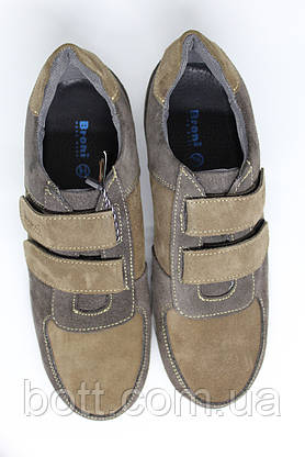 Кроссовки женские на липучках замшевые, фото 3