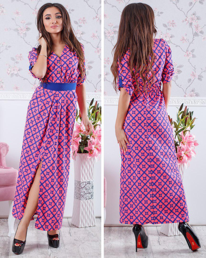 0395d7c6a18 Приталенное летнее платье-макси