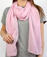 Шарф осень-весна вискоза однотонный розовый