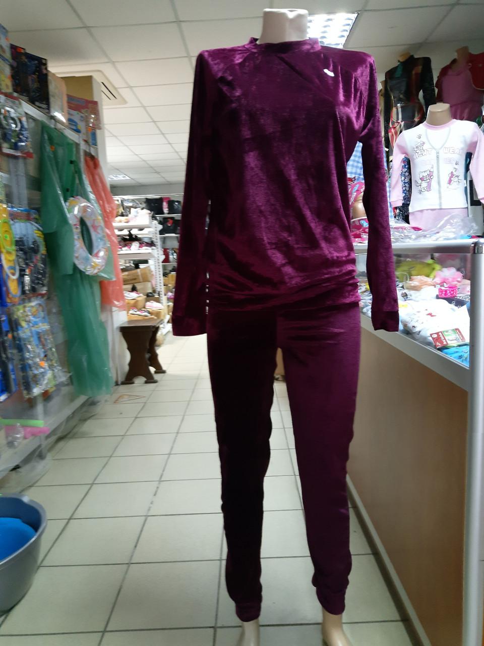 Велюровий спортивний костюм Жіночий р. 44