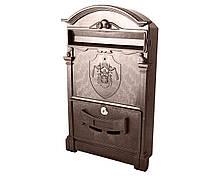Поштова скринька VITA коричневий з поштовим гербом Англії 18 століття