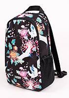 Молодежный городской рюкзак женский UP B11 JURAVEL 13л с принтом, для ноутбука, студента, в школу.